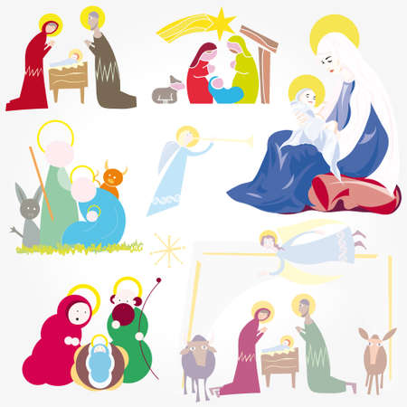 portal: Illustration vector. Star of Bethlehem. Nativity
