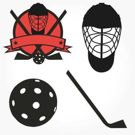 picked: hockey uni-hockey floorball stick and puck illustration sign and symbol