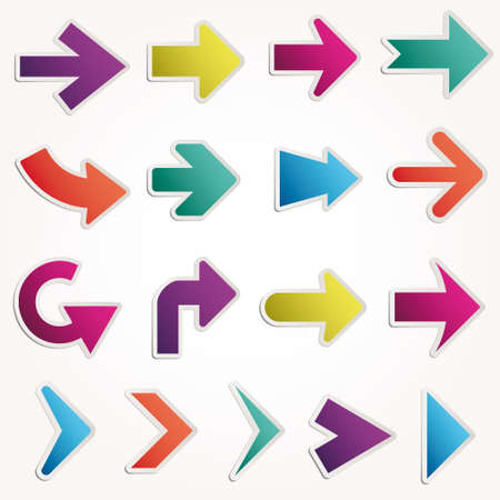directions: Set vector arrows Illustration