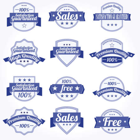 Premium high Quality sales free Labels with retro design Vector