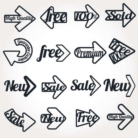 Collection arrows of sale labels, stickers and banners Stock Vector - 11115013