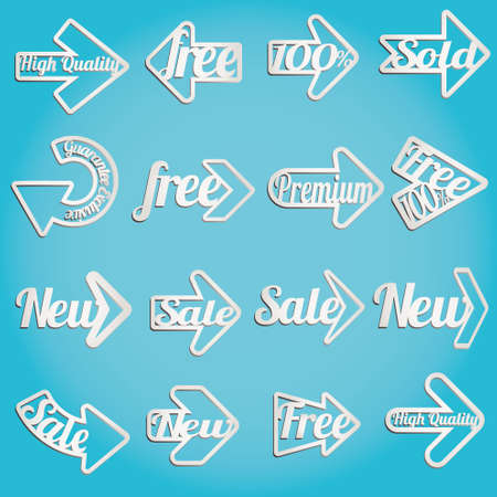 Collection arrows of sale labels, stickers and banners Stock Vector - 11115019