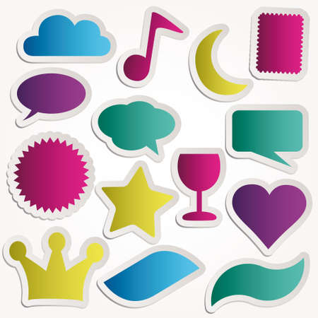Speech bubbles set various forms symbols  Vector