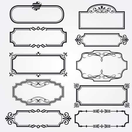 calligraphic design: Vector decorative ornate design elements & calligraphic page decorations Illustration