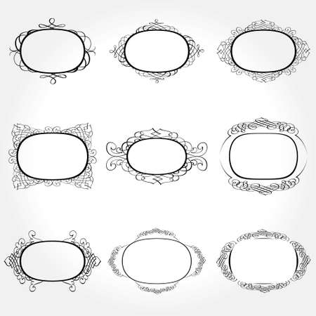 Vector Frame Set ornamental vintage decoration Stock Vector - 11578787
