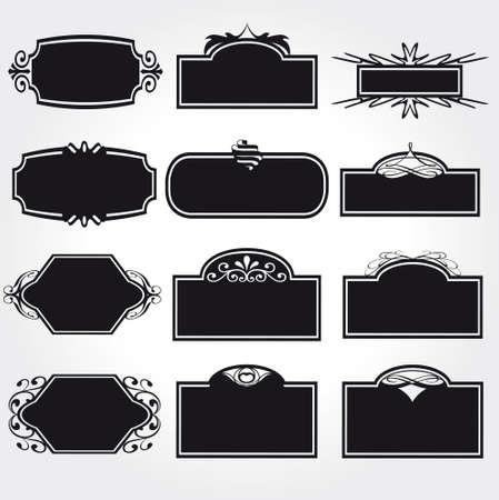gothic design: Vector Frame Set ornamental vintage decoration