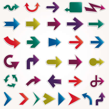 flecha direccion: flechas de vectores establecer Vectores