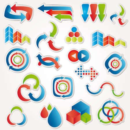 Elementos abstractos de diseño. Ilustración del vector.