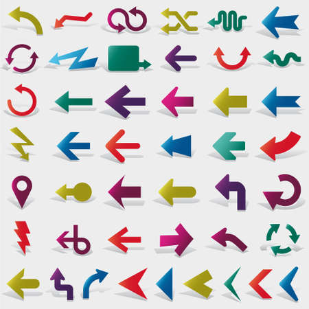 pointing up: vector arrows set Illustration