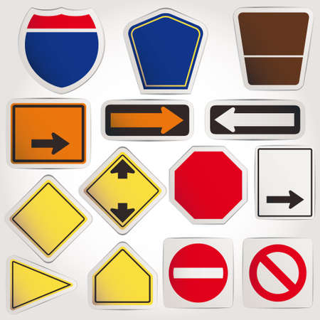 interstate: Vector. Blank road signs