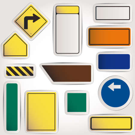 Vector. Blank road signs Vector