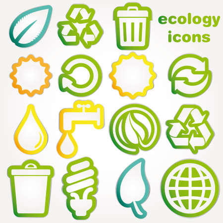 Recycle and ecology icons collection Stock Vector - 12327063