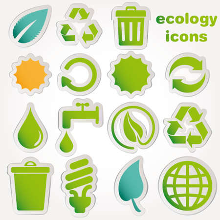Recycle and ecology icons collection Vector