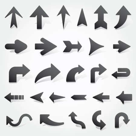 flechas: flechas establece Vectores