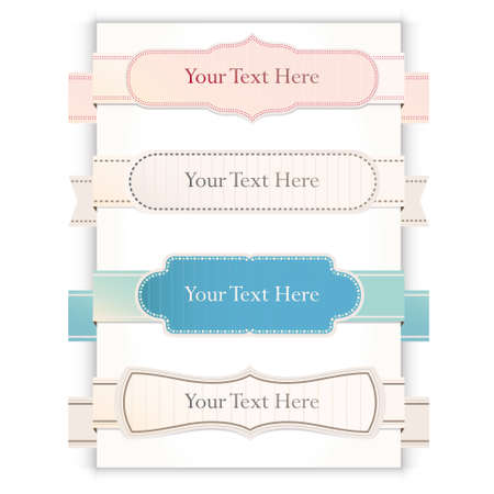 Set of retro ribbons and labels. Vector