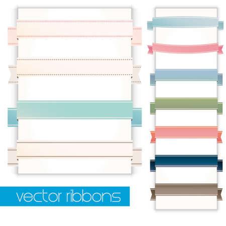 Set of retro ribbons.  Vector
