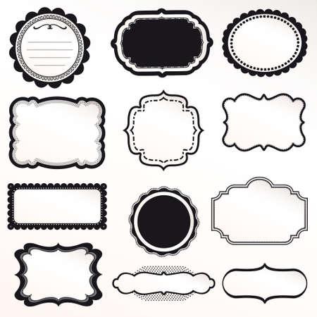 Frame Vector Set decoración ornamental vendimia Foto de archivo - 14846606