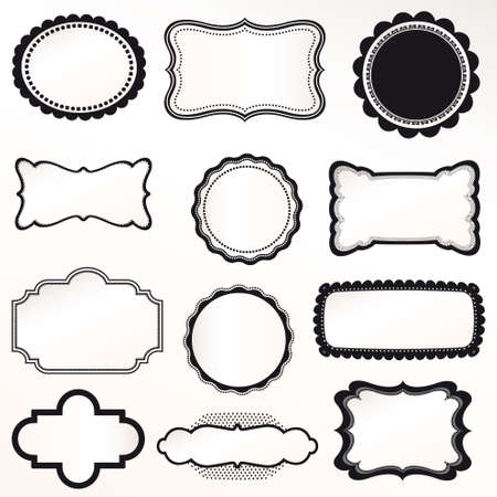 Frame Vector Set decoración ornamental vendimia Foto de archivo - 14846607