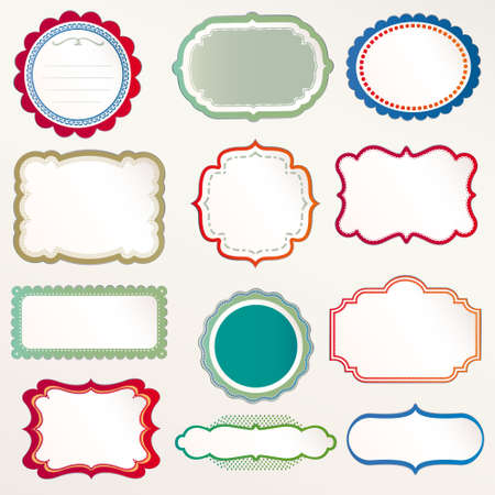 round frame: Vector Frame Set ornamental vintage decoration