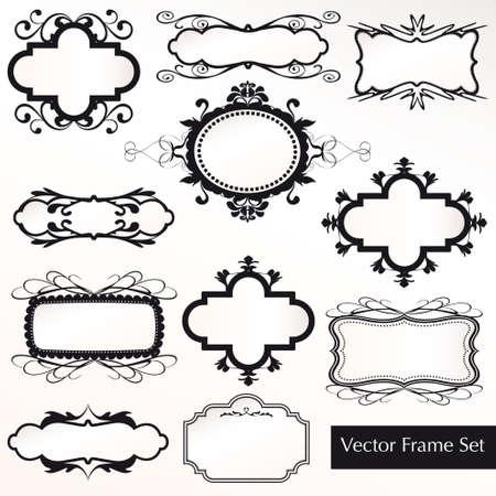 Vector Frame Set ornamental vintage decoration