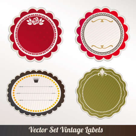 rounded: Vector Frame Set ornamental vintage decoration  Illustration
