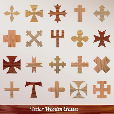 wooden crossed Vector