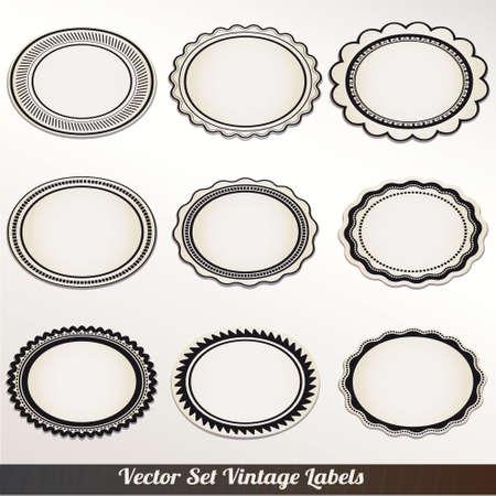 rounded square: Vector Frame Set ornamental vintage decoration