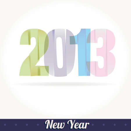 New 2013 year greeting card  Stock Vector - 15553797
