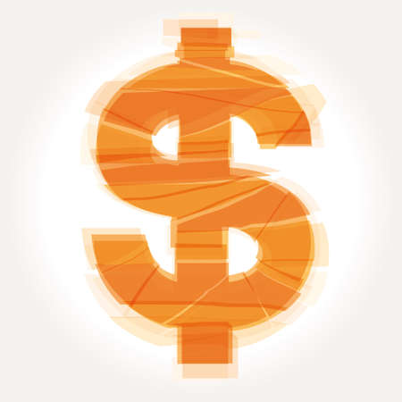 cracked dollar symbol vector Vector