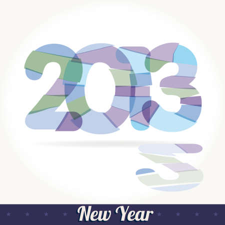 fused: New 2013 year greeting card Illustration