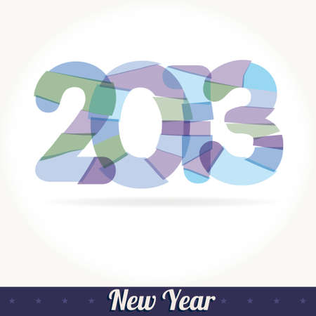 fused: New 2013 year greeting card