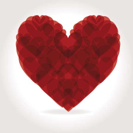 kształt: Ilustracje wektorowe ikony serce symboli Valentine dni