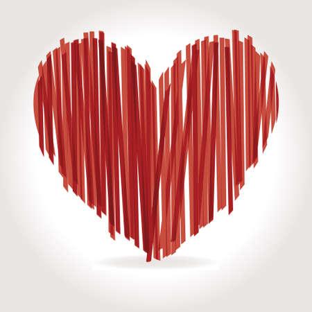 heart Vector Illustration icons symbols Valentine day Ilustração