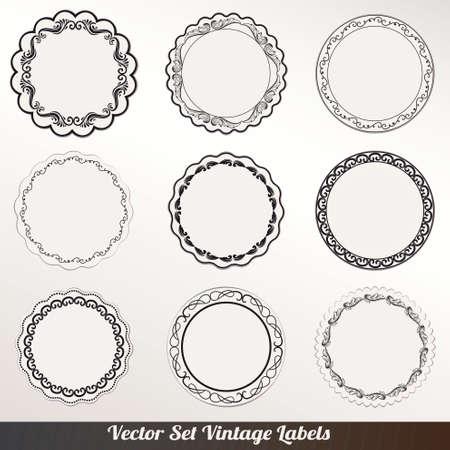 luxury template: Vector Frame labels Set ornamental vintage decoration