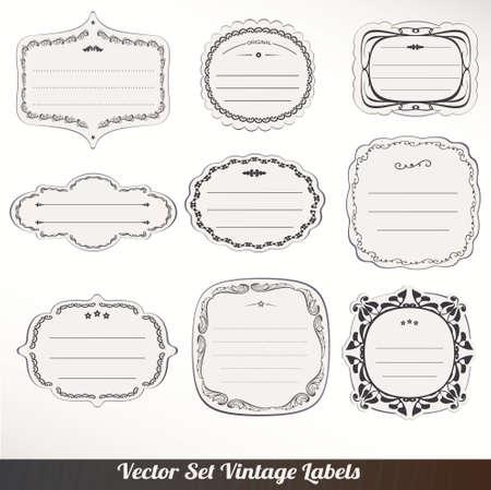 Vector Frame labels Set ornamental vintage decoration Stock Vector - 16061730