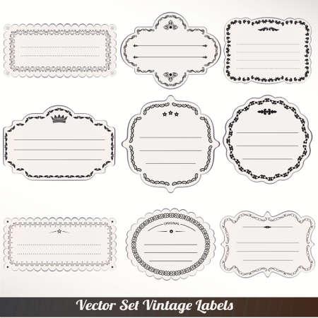 Vector Frame labels Set ornamental vintage decoration Stock Vector - 16061732