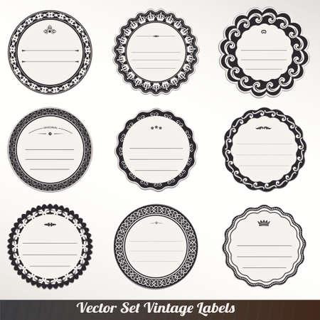 make money: Vector Frame labels Set ornamental vintage decoration