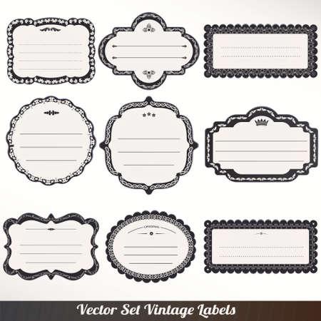 Vector Frame labels Set ornamental vintage decoration Stock Vector - 16061739