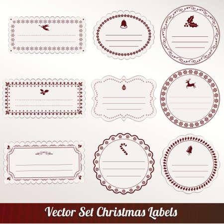 christmas frame set design. vector illustration Stock Vector - 16255684