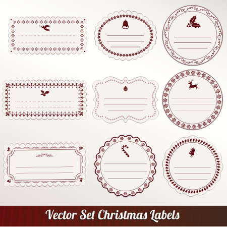 christmas frame set design. vector illustration Stock Vector - 16255684