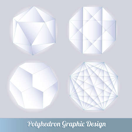 the polyhedron: Set polyhedron 3d vector lots