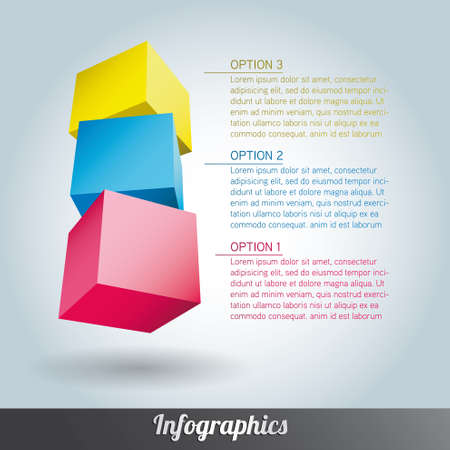 Cube infographics vector Stock Vector - 17222643