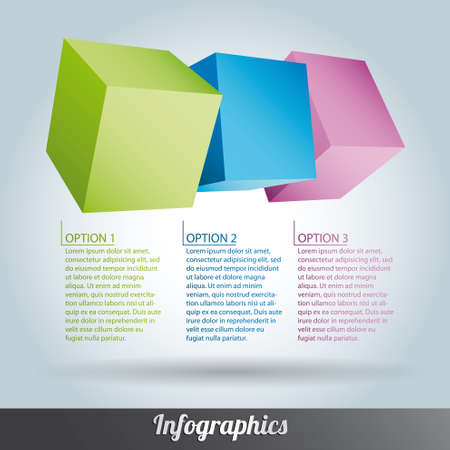 Cube infographics vector Stock Vector - 17222642