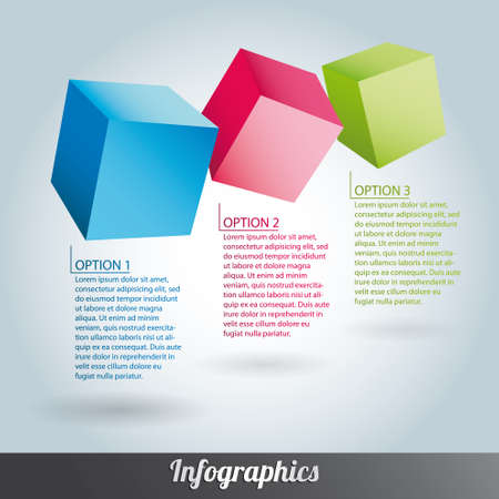 Cube infographics vector Stock Vector - 17222644