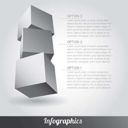 Cube infographics vector Stock Vector - 17222646