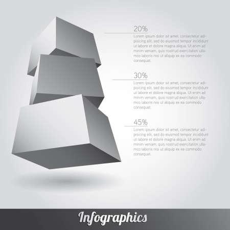 Cube infographics vector Stock Vector - 17222641