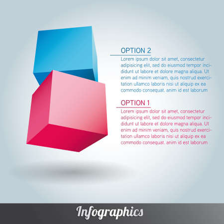 Cube infographics  Stock Vector - 17666293