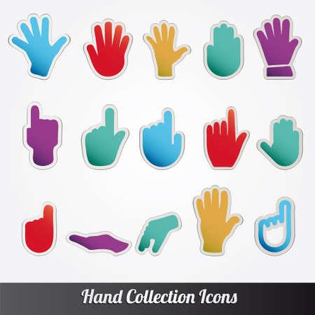 Colección de la mano humana Ilustración de vector