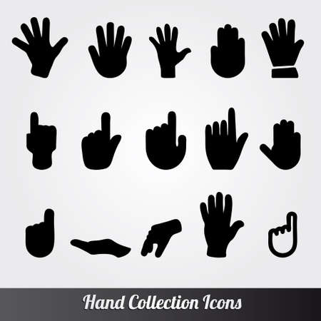 Human Hand collection Vectores