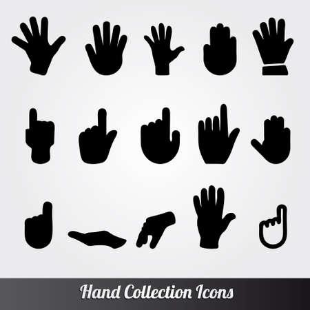 Menselijke hand collectie